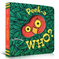 英文原版绘本 Peek A Who 猜猜我是谁0-3岁童书 正版进口纸板书启蒙躲猫猫故事洞洞翻翻玩具书1-4岁亲子互动