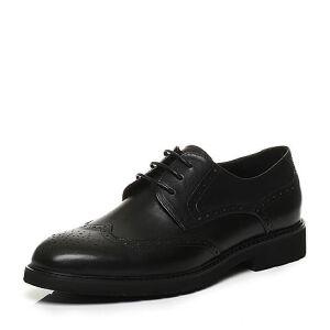 Teenmix/天美意2017秋专柜同款牛皮布洛克英伦风德比鞋男正装鞋2CC01CM7