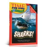 时代儿童百科普读物海洋动物: 鲨鱼!Time For Kids: Sharks!