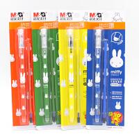 晨光(M&G) 文具热可擦中性笔全针管水笔学生签字笔 可擦笔0.5mm HFKP0718 米菲 晶蓝3卡装笔杆颜色随机
