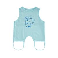 婴儿衣服新生儿肩扣连腿肚兜夏季卡通纯棉薄款满月百天宝宝兜兜