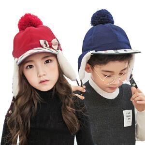 kk树新款宝宝帽子秋冬时尚护耳保暖女童鸭舌帽儿童帽子男个性冬潮
