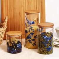 Evergreen爱屋格林厨房玻璃罐玻璃瓶子带盖杂粮储物收纳花茶叶食品密封罐储物罐