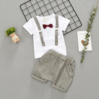 宝宝夏装套装男婴儿衣服夏季新生儿外出服