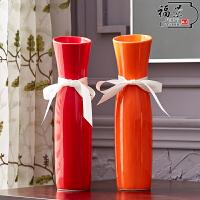 现代简约 创意摆件家居装饰品 陶瓷干花花器花瓶花艺