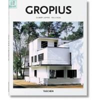 现货 瓦尔特 格罗皮乌斯 现代建筑设计师 建筑设计作品集 Gropius 英文原版 Taschen Basic Archetecture 塔森建筑基础系列 精装