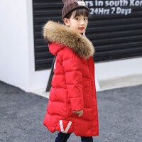 儿童羽绒服女孩子冬季新款女童毛领童装保暖女童外套中长款