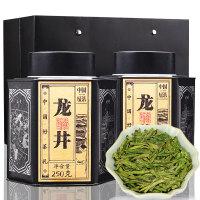 龙井春茶绿茶雨前龙井茶叶好茶铁罐装茶礼盒