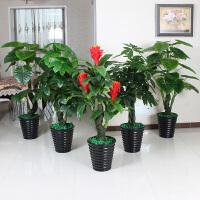 仿真植物盆栽滴水观音盆景大型客厅落地绿植树装饰塑料花