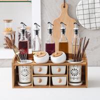 陶瓷调料盒油壶筷子筒组合套装厨房调味罐醋瓶双层调料盒