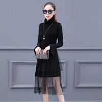 2018新款女装春装小香风针织背心套装裙高腰chic马甲连衣裙两件套