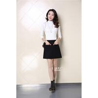 季高腰裙包臀裙口袋裙半身裙短裙冬裙女裙型黑色裙子字裙秋