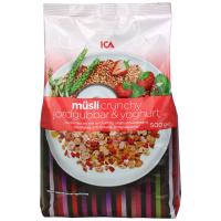 瑞典ICA麦片草莓酸奶什锦粗粮混合麦片500g进口即食早餐营养麦片