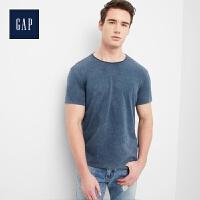 Gap官方旗舰店 男装 休闲直筒圆领短袖T恤 270236