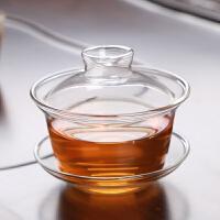 敬茶杯6只古德窑加厚耐热透明玻璃盖碗茶备功夫茶具泡茶碗三才碗敬茶壶茶杯 玻璃盖碗(150ml)高硼硅