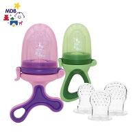 牙胶磨牙棒硅胶 宝宝食物咬咬袋果蔬乐辅食器婴儿吃水果训练器