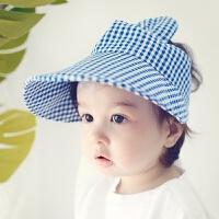 宝宝帽子春夏空顶鸭舌帽棉婴儿遮阳沙滩帽儿童帽子