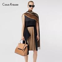 Clous Krause ck包包女包2019新款时尚单肩包女手提包女士大容量百搭牛皮包宽肩带斜挎包