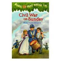 【现货】英文原版儿童书 Magic Tree House #21: Civil War on Sunday 神奇树屋系列