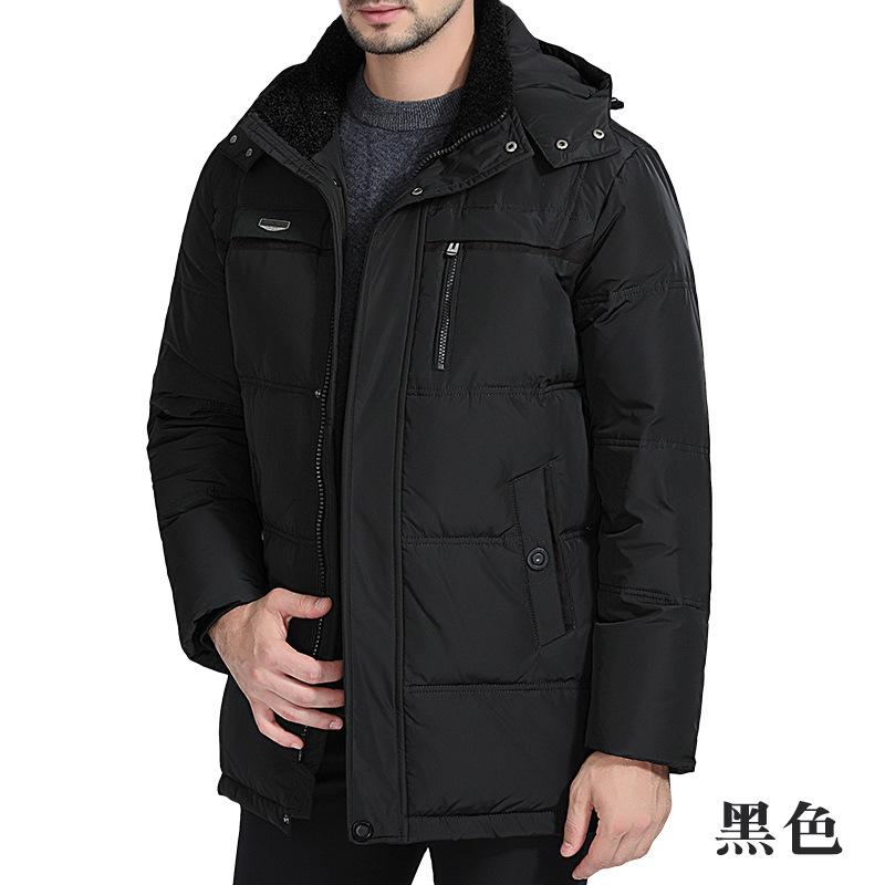 冬季中老年羽绒服男加厚中长款爸爸大码男式外套中年人装2018新款 发货周期:一般在付款后2-90天左右发货,具体发货时间请以与客服协商的时间为准