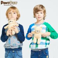 【3件2折 到手价:80】Pawinpaw宝英宝小熊童装春季款男童圆领套头卫衣