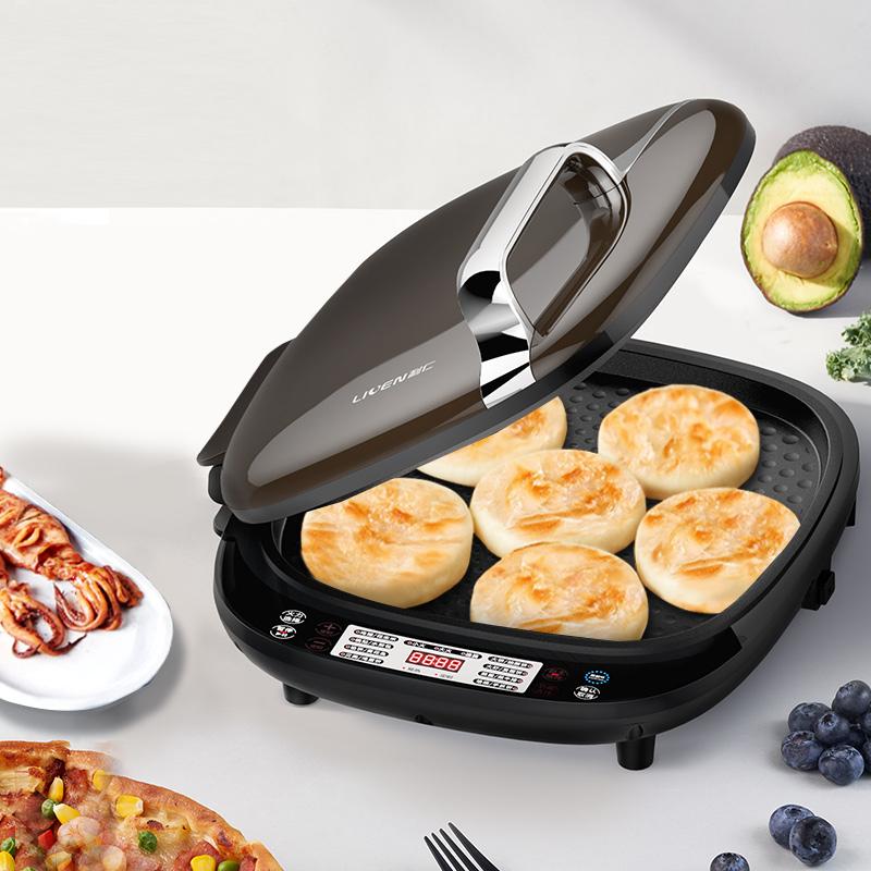利仁(Liven)LR-D3500 电饼铛 侧开电脑版大咖电饼铛 3档火力调节 35cm烤盘 上下烤盘独立控温 下盘可拆洗