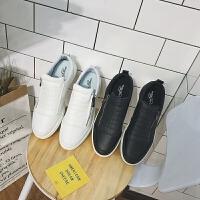 米乐猴 潮牌黑白色板鞋男夏季男士透气懒人鞋韩版潮流学生运动休闲鞋低帮鞋子