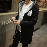 男士风衣新款帅气中长款外套韩版学生修身款冬季大衣加绒加厚