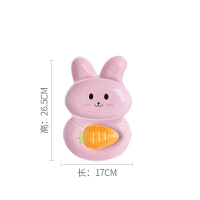 儿童餐盘分格盘卡通宝宝分隔水果盘陶瓷餐具创意兔碗盘子家用