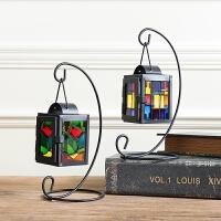 欧式创意铁艺浪漫蜡烛烛台灯摆件家居客厅室内房间装饰品摆设