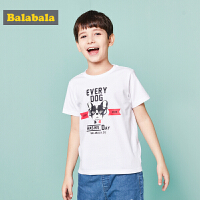 巴拉巴拉童装男童短袖T恤中大童儿童夏装2018新款圆领印花体恤男