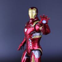 漫威复仇者联盟3系列超可动14寸发光钢铁侠7寸美国队长 钢铁侠 绿巨人 可动人偶手办模型袋子盒装
