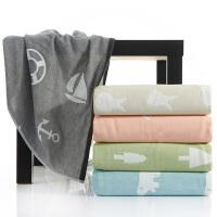 三利纱布毛巾被 居家办公午休盖毯 柔软亲肤三层纯棉纱布毛巾毯