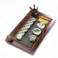 茶具套装功夫茶具茶盘茶具6人家用乌金石中式现代简约茶艺泡茶器