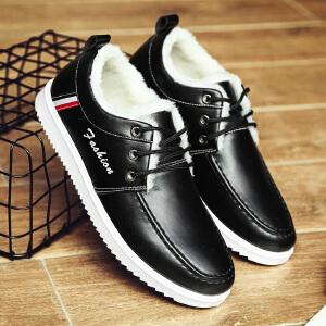 加绒皮鞋男冬季棉鞋男士加绒加厚保暖男鞋板鞋运动休闲鞋雪地靴防水鞋潮鞋子D1811JQ支持