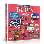 顺丰发货 英文原版绘本Little Explorers The Farm 小小探险家:农场 儿童精装翻翻纸板书 百科普