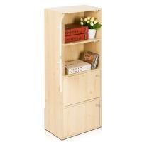 [当当自营]慧乐家 书柜书架 鲁比克四层组合带门柜 简易储物收纳柜 白枫木色 1106511