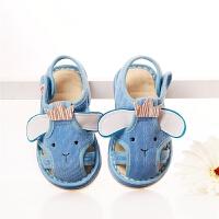 夏季新款儿童男女童宝宝凉鞋手工凉布鞋