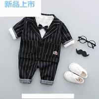 2018春装婴儿幼儿绅士礼服周岁0-1岁3男童儿童宝宝小西装三件套装