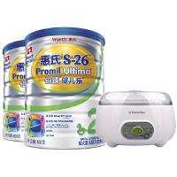 【当当自营】惠氏S-26铂臻健儿乐2段800g*2+伊莱克斯酸奶机