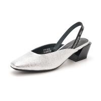 迪芙斯(DFUSE)女鞋 2019年春季专柜同款羊皮革时髦中后空单鞋DF91114210