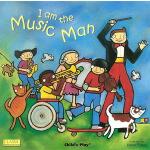 英文原版绘本 I Am the Music Man 超大开本 洞洞书 韵文童谣 廖彩杏书单