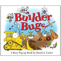 Builder Bugs: A Busy Pop-up Book (David Carter's Bugs) 神奇动态体验立体认知书・小虫虫盖新房:建筑过程