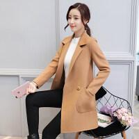 双面呢大衣女中长款2018秋冬季韩版流行羊绒毛呢外套女赫本