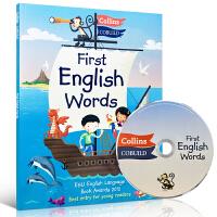 英文原版 Collins First English Words +正版CD 100-300柯林斯英语单词书 进口幼儿