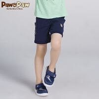 【3件3折 到手价:77】Pawinpaw卡通小熊童装新款秋男童休闲运动短裤中大童纯色短裤