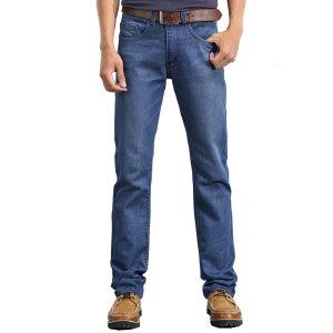 男士小直筒薄款牛仔裤