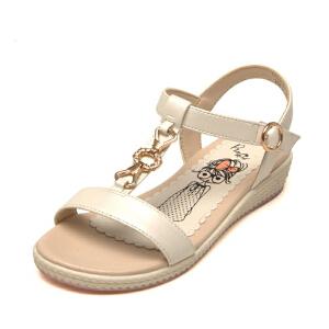 鞋柜女童凉鞋简约褡裢公主鞋新款春夏学生鞋亲子鞋中大童儿童鞋子