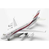 飞机模型仿真民航客机 客机模型合金空客A380儿童玩具回力