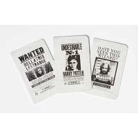 【中商原版】哈利波特:通缉令系列笔记本(3册装)英文原版 HarryPotter Wanted Posters Poc